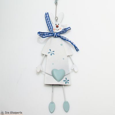 Rabbit at Heart Garland in blue