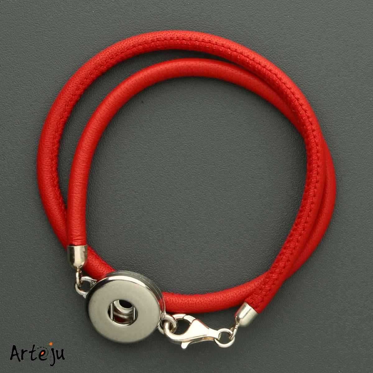 Rotes Nappaleder Armband